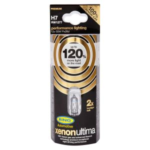 Ring Xenon Ultima Performance Light Bulbs - Up To 120% More Light - H11 55w Twin Pack